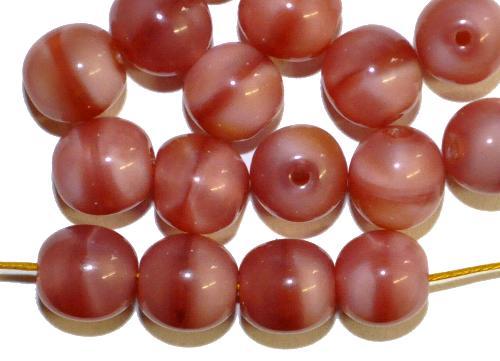 Best.Nr.:63866 Glasperlen rund in den 1920/30 Jahren in Gablonz/Böhmen hergestellt  rosa Perlett