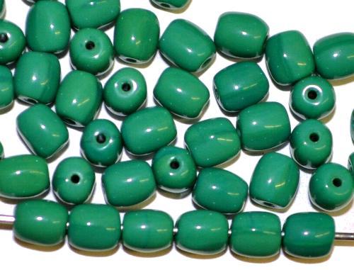 Best.Nr.:63876 Glasperlen Oliven russischgrün opak,  in den 1920/30 Jahren in Gablonz/Böhmen hergestellt