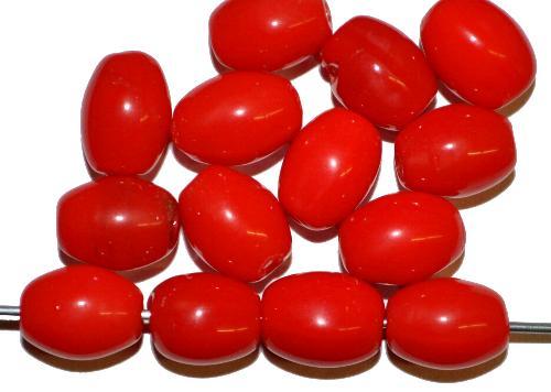 Best.Nr.:63910  Glasperlen Oliven,  in den 1920/30 Jahren in Gablonz/Böhmen hergestellt,  rot opak