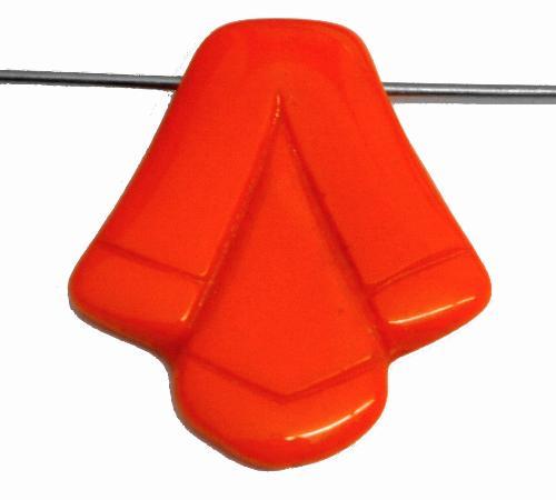 Best.Nr.:63923 Glasperle in der Zeit von 1920 bis 1930 in Gablonz/Böhmen hergestellt, orange opak