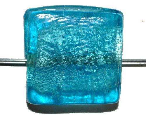 Best.Nr.:64107  handgefertigte Lampenperle  mit eingearbeiteter Silberfolie