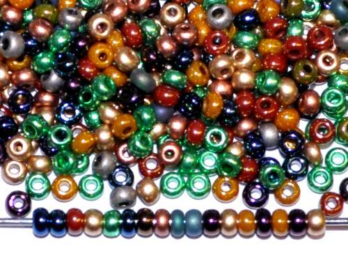 Best.Nr.:65031 Rocailles von Ornella Preciosa Tschechien, Farbmix metallic