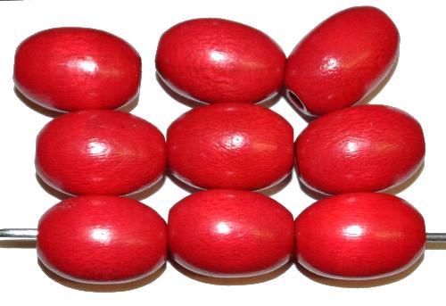 Best.Nr.:66001 Holzperlen Oliven rot, hergestellt in Smržovka / Tschechien
