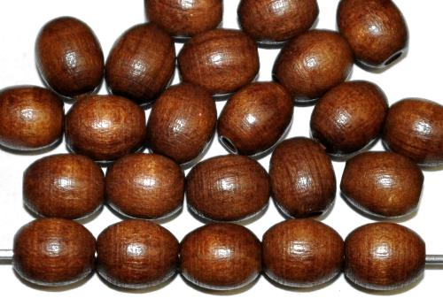 Best.Nr.:66008 Holzperlen Oliven dunkelbraun, hergestellt in Smržovka / Tschechien