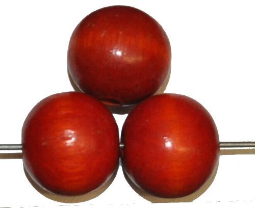 Best.Nr.:66009 Holzperlen rund rotbraun, hergestellt in Smržovka / Tschechien