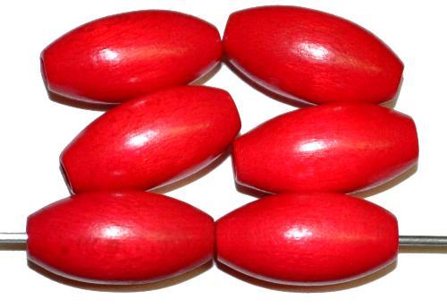 Best.Nr.:66031 Holzperlen Oliven rot, hergestellt in Smržovka / Tschechien