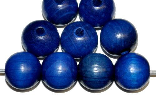 Best.Nr.:66035 Holzperle rund blau, hergestellt in Smržovka / Tschechien