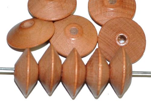 Best.Nr.:66047 Holzperlen Linsen hellbraun, hergestellt in Smržovka / Tschechien