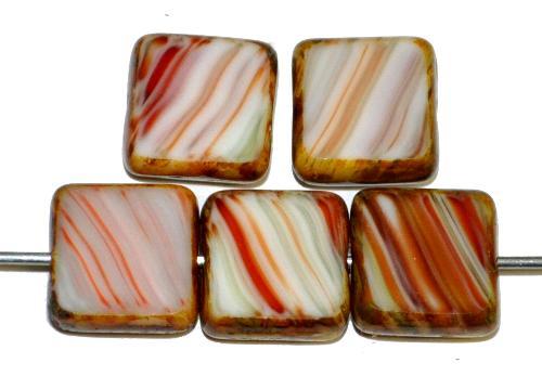 Best.Nr.:67001 Glasperlen / Table Cut Beads  geschliffen mit picasso finish,  hergestellt in Gablonz / Tschechien