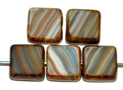 Best.Nr.:67002 Glasperlen / Table Cut Beads  geschliffen mit picasso finish,  hergestellt in Gablonz / Tschechien