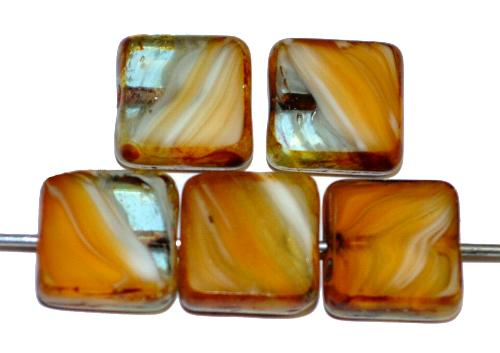 Best.Nr.:67011  Glasperlen / Table Cut Beads  geschliffen mit picasso finish,  hergestellt in Gablonz / Tschechien