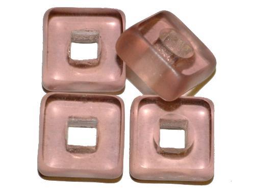 Best.Nr.: 671164 Glasperlen / Table Cut Beads  geschliffen, french violett transp., Rand mattiert,  hergestellt in Gablonz / Tschechien