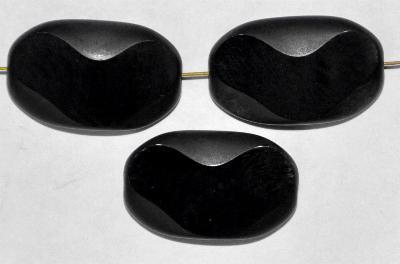 Best.Nr.:671183 Glasperlen / Table Cut Beads geschliffen schwarz Rand mattiert (frostet)