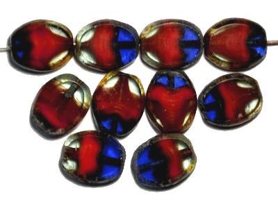Best.Nr.:671188 Glasperlen geschliffen / Table Cut Beads, multicolor, mit picasso finish