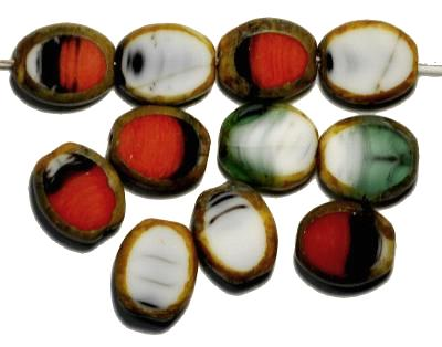 Best.Nr.:671192 Glasperlen geschliffen / Table Cut Beads, multicolor Farbmix, mit picasso finish