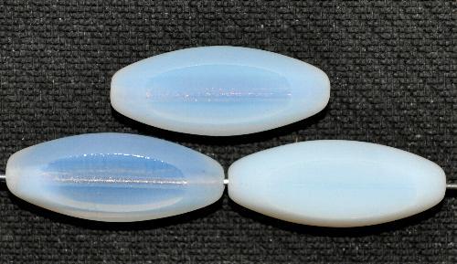 Best.Nr.:671229 Glasperlen / Table Cut Beads geschliffen, Opalglas weiß Rand mattiert (frostet), hergestellt in Gablonz / Tschechien