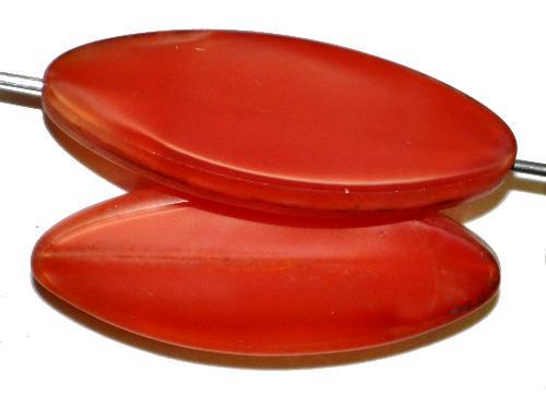 Best.Nr.:67130 Glasperlen / Table Cut Beads geschliffen,  Perlettglas karmesinrot mit picasso finish,  hergestellt in Gablonz / Tschechien