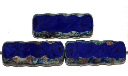 Best.Nr.:67217 Glasperlen / Table Cut Beads geschliffen mit picasso finish