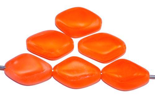 Best.Nr.:67226 Glasperlen / Table Cut Beads geschliffen, Perlettglas orange Rand mattiert, hergestellt in Gablonz / Tschechien Rand mattiert (frostet)