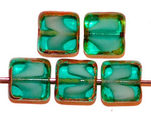 Best.Nr.:67281 Glasperlen / Table Cut Beads geschliffen mit picasso finish,  hergestellt in Gablonz / Tschechien