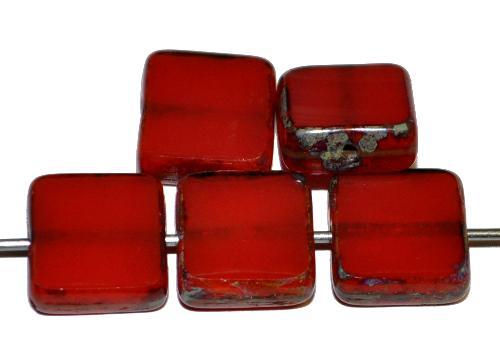 Best.Nr.:67341 Glasperlen / Table Cut Beads geschliffen mit picasso finish,  hergestellt in Gablonz / Tschechien