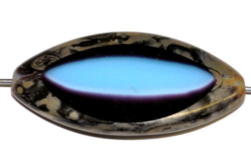 Best.Nr.:67346 Glasperlen / Table Cut Beads geschliffen mit Travertin-Veredelung