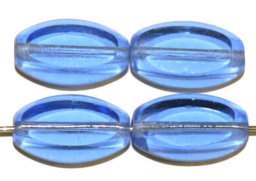 Best.Nr.:67413  Glasperlen / Table Cut Beads geschliffen  aqua transp.,  hergestellt in Gablonz / Tschechien