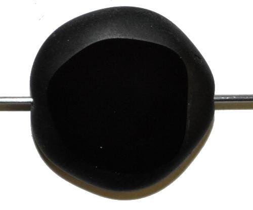 Best.Nr.:67438 Glasperlen / Table Cut Beads geschliffen, schwarz Rand mattiert (frostet)