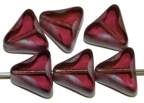 Best.Nr.:67475 Glasperlen / Table Cut Beads geschliffen violett transp. Rand mattiert mit Silverlüster, hergestellt in Gablonz / Tschechien