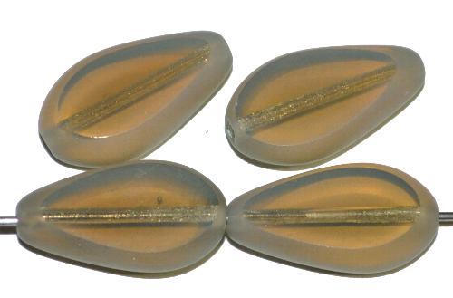 Best.Nr.:67571 Glasperlen / Table Cut Beads  geschliffen, Opalglas silk  Rand mattiert (frostet)  hergestellt in Gablonz / Tschechien