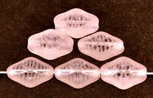 Best.Nr.:67727 Glasperlen / Table Cut Beads geschliffen rosa kristall Rand mattiert (frostet), hergestellt in Gablonz / Tschechien