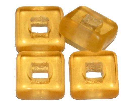 Best.Nr.:67745 Glasperlen / Table Cut Beads geschliffen, topas transp., Rand mattiert, hergestellt in Gablonz / Tschechien