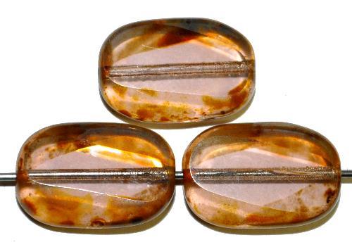 Best.Nr.: 67999 Glasperlen / Table Cut Beads  geschliffen, light frenchviolett mit picasso finish,  hergestellt in Gablonz / Tschechien