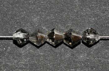 Best.Nr.:31061 mc-Schliff Glasperlen kristall mit Platin Veredelung bicon
