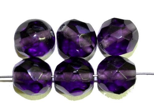 Best.Nr.:76002 geschliffene Glasperlen, violettblau transp., um 1920/30 in Gablonz/Böhmen hergestellt,