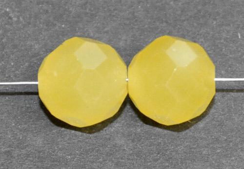 Best.Nr.:76020 mc schliff Glasperlen, greasy yellow, um 1920/30 in Gablonz/Böhmen hergestellt,