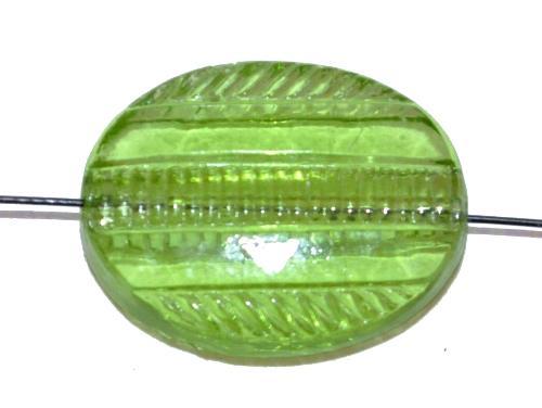 Best.Nr.:76021 geschliffene Glasperlen, grün transp., um 1920/30 in Gablonz/Böhmen hergestellt
