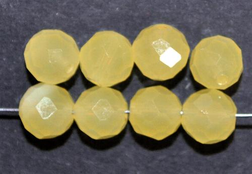 Best.Nr.:76028  mc schliff Glasperlen, greasy yellow, um 1920/30 in Gablonz/Böhmen hergestellt, (nur wenige auf Lager)