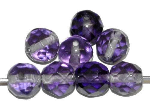 Best.Nr.:76036 geschliffene Glasperlen, violett transp., um 1920/30 in Gablonz/Böhmen hergestellt
