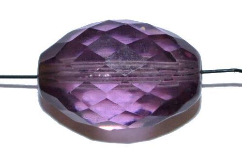 Best.Nr.:76042  geschliffene Glasperlen Oliven, violett transp., um 1920/30 in Gablonz/Böhmen hergestellt