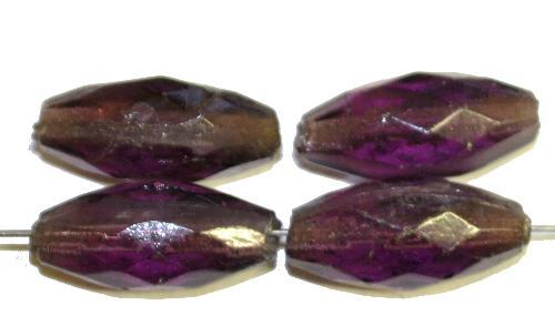 Best.Nr.:76048 Glasperlen Oliven, violett transp., um 1920/30 in Gablonz/Böhmen hergestellt,  (nur wenige auf Lager)