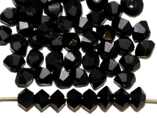 Best.Nr.:76053  mc-Schliff Glasperlen, schwarz mattiert, um 1930/40 in Gablonz/Böhmen hergestellt