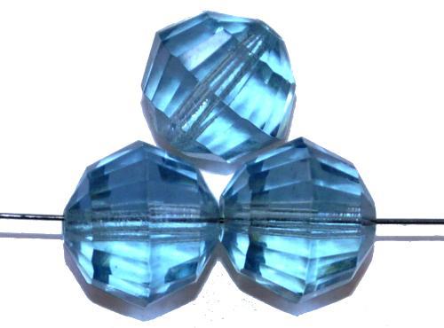 Best.Nr.:76063 geschliffene Glasperlen, aqua transp., um 1920/30 in Gablonz/Böhmen hergestellt