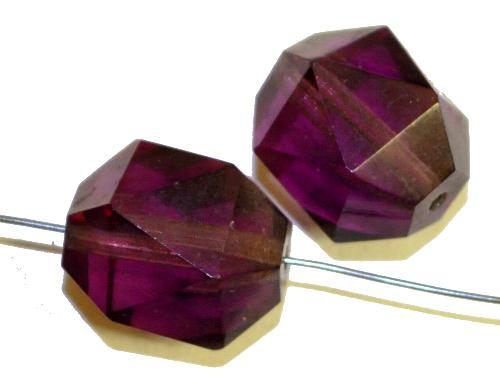 Best.Nr.:76066 geschliffene Glasperlen, violett transp., um 1920/30 in Gablonz/Böhmen hergestellt,  (nur wenige auf Lager)