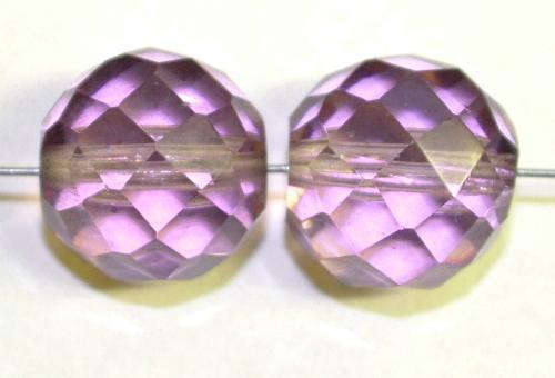 Best.Nr.:76069  geschliffene Glasperlen, violett transp., um 1920/30 in Gablonz/Böhmen hergestellt,  (nur wenige auf Lager)