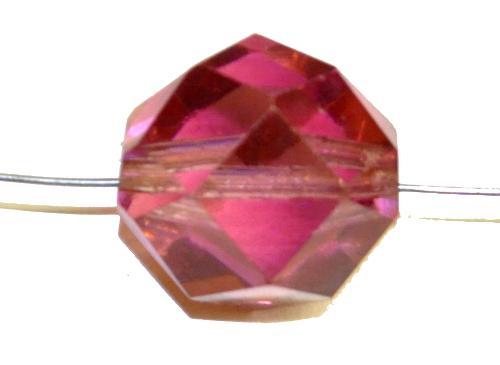 Best.Nr.:76090 geschliffene Glasperlen, violett transp., um 1920/30 in Gablonz/Böhmen hergestellt,  (nur wenige auf Lager)