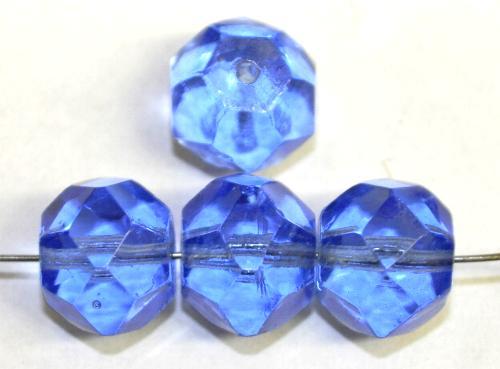Best.Nr.:76096  geschliffene Glasperlen, aqua transp.,  um 1920/30 in Gablonz/Böhmen hergestellt,  (nur wenige auf Lager)