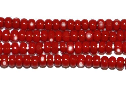 Best.Nr.:77007 Cut Rocailles / Charlottes (angeschliffene Rocailles) von Preciosa Tschechien rot opak
