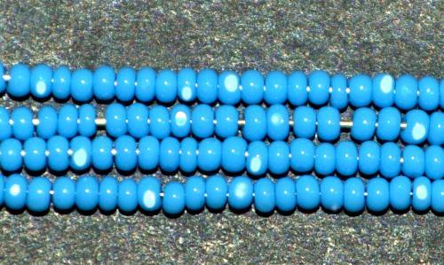 Best.Nr.:77009 Cut Rocailles / Charlottes (angeschliffene Rocailles) von Preciosa Tschechien türkisblau opak