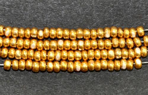 Best.Nr.:77019  Cut Rocailles (angeschliffene Rocailles) von Preciosa Tschechien  gold